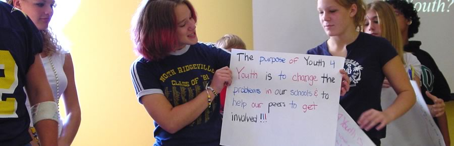 The purpose of Youth4Youth is to change the problems in our schools and to help our peers to get involved